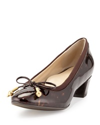 Taryn Rose Fairlawn Patent Leather Bow Pump Tortoise