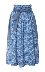 Ulla Johnson Mina Paper Bag Skirt Floral