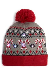 Junior Women's Capelli Of New York 'Candy Cane' Led Beanie