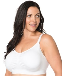 Motherhood Maternity Plus Size Seamless Full Coverage Clip Down Nursing Bra White