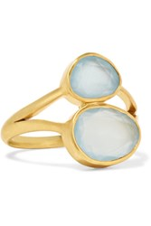 Pippa Small 18 Karat Gold Aquamarine Ring