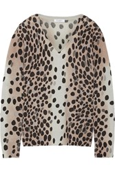 Equipment Cecile Leopard Print Cashmere Sweater Animal Print