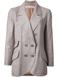 Jean Louis Scherrer Vintage Checked Blazer Pink And Purple