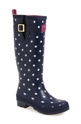 Women's Joules 'Welly' Print Rain Boot Navy Spot