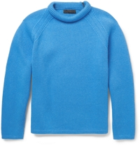 Burberry Cashmere Crew Neck Sweater Blue