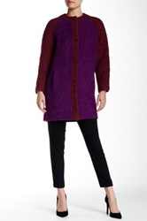 Lk Bennett Heidi Wool Blend Boucle Coat Red