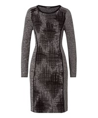 Olsen Zip Detail Dress Grey