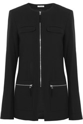 Protagonist Stretch Wool Crepe Jacket Black