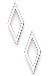 Women's Bony Levy Open Diamond Shape Stud Earrings Nordstrom Exclusive