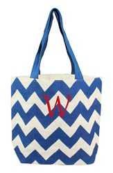 Cathy's Concepts Personalized Chevron Print Jute Tote