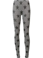 Gareth Pugh Star Leggings Grey