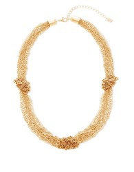 Steve Madden Cable Chain Knot Station Necklace Gold