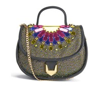 Matthew Williamson Women's Embellished Micro Satchel Bag Black Multi
