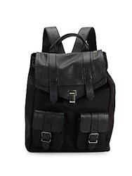 Proenza Schouler Ps1 Leather And Canvas Backpack Black