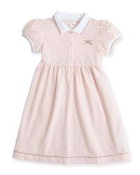 Gucci Web Detail Short Sleeve Polo Dress Pink 0 36 Months