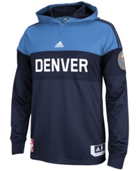 Adidas Men's Long Sleeve Denver Nuggets On Court Shooter Shirt Navy