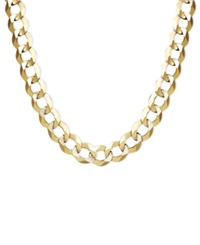 Macy's 22' Men's Curb Chain 7Mm Necklace In 14K Gold