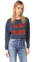 Lovers Friends Roadtrippin Cutoff Pullover Navy