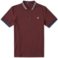 Fred Perry Stripe Collar Polo Burgundy