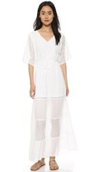 Cupcakes And Cashmere Sheila Lace Mix Maxi Dress White