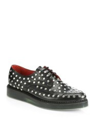 Diesel Kalling Studded Leather Lace Up Shoes Black