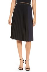 Leith Women's Colorblock Pleated Midi Skirt