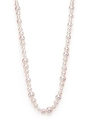 Mikimoto 4.5Mm 8.5Mm White Cultured Akoya Pearl And 18K White Gold Necklace