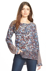 Plenty By Tracy Reese Mixed Print Tee Abstract Medallion