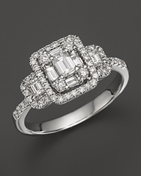 Bloomingdale's Diamond Emerald Cut Ring In 14K White Gold 1.0 Ct. T.W. No Color