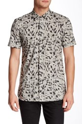 Antony Morato Cement Abstract Print American Fit Shirt Multi