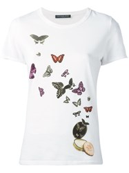 Alexander Mcqueen Butterfly And Moth Print T Shirt White