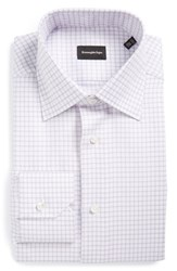 Ermenegildo Zegna Men's Big And Tall Regular Fit Check Dress Shirt Lavender