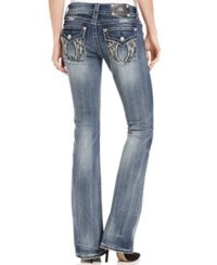 Miss Me Embellished Bootcut Jeans Medium Wash