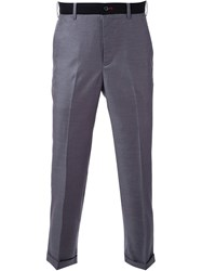 Loveless Cropped Tailored Trousers Grey