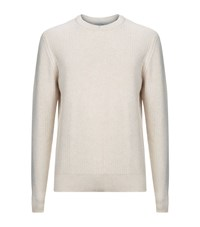 Gieves And Hawkes Cashmere Knit Jumper Male Beige