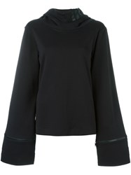 Y 3 Oversized Sleeves Hoodie Black