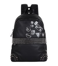 Philipp Plein Studded Badges Backpack Unisex Black