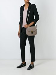 Giorgio Armani Saddle Sling Crossbody Bag Nude And Neutrals