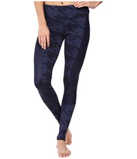 Alo Yoga Accelerate Leggings Rich Navy Houndstooth Rich Navy Glossy Women's Casual Pants