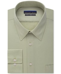 Geoffrey Beene Non Iron Fitted Textured Sateen Solid Dress Shirt