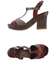 Audley Sandals Maroon