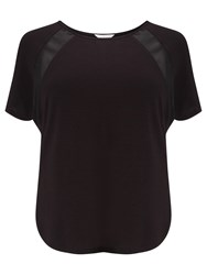 Windsmoor Jersey And Chiffon Raglan Top Black
