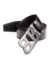 Bally Textured Leather Belt Black