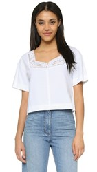 See By Chloe Embroidered Tee White