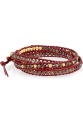 Chan Luu Cord And Beaded Bracelet Red