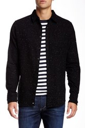 Micros Midnight Speckled Flannel Shirt Black