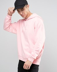 Asos Oversized Hoodie In Pink Strawberry Cream