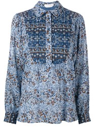 See By Chloe See By Chloe Floral Print Shirt Blue