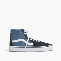 Madewell Vans Classic Sk8 Hi High Top Sneakers In Suede And Canvas Navy