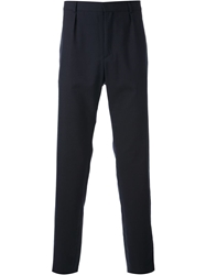 A.P.C. Pleated Front Regular Fit Trousers Blue